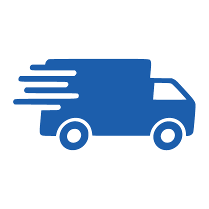 graphic of shipping truck with speed lines